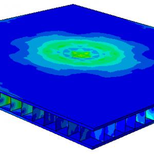شبیه سازی انفجار بر روی یک سازه تقویت شده با نرم افزار Abaqus
