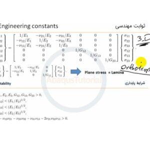 آموزش انواع مدل های الاستیک خطی در Abaqus
